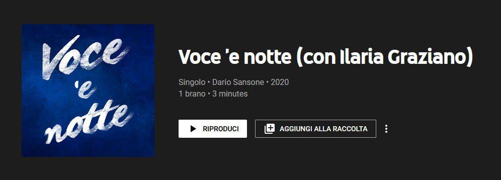 """DARIO SANSONE e ILARIA GRAZIANO interpretano la celeberrima """"VOCE 'E NOTTE"""""""