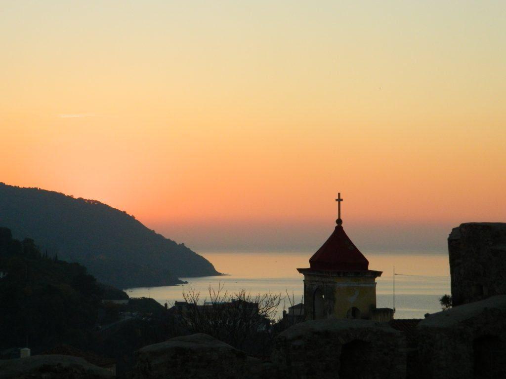 Il puzzle della domenica: tramonto dal Castello di Agropoli