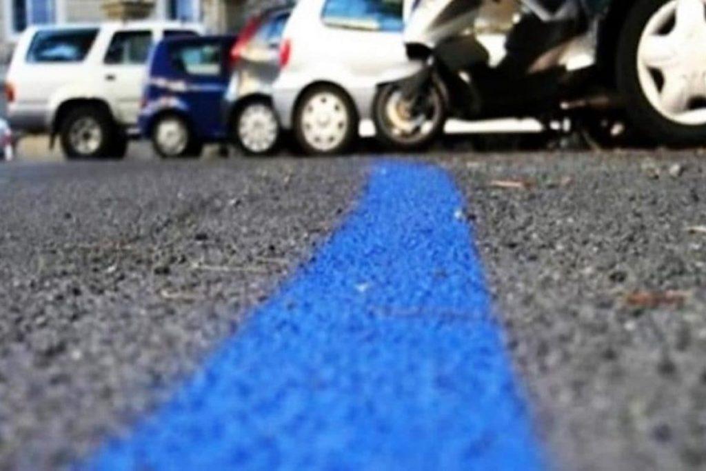 """Strisce blu posteggio 1024x683 - Ad Agropoli a pagamento il posteggio """"Landolfi"""": ma ci si puo' abbonare"""