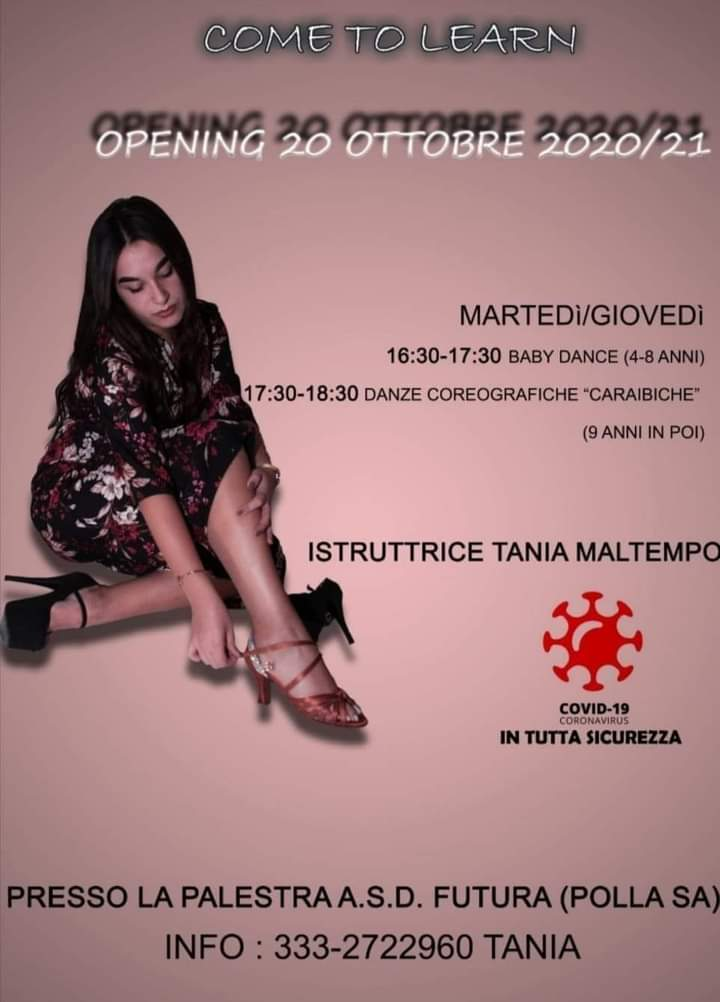 index 1 - Polla, Tania Maltempo inaugura corsi di danza per bimbi e ragazzi (in sicurezza Covid)