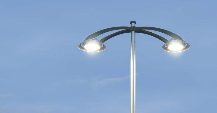 lampione led - Eboli, SP30: completati i lavori di illuminazione