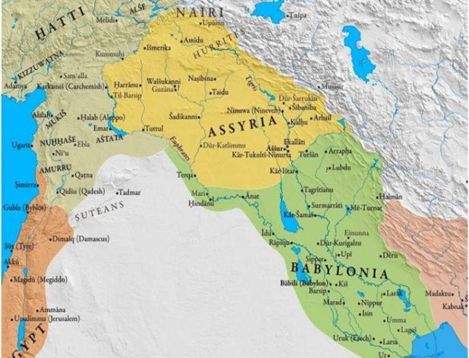 mesopotamia ancient map large 680x519 1 - Covid: 6mila casi in un giorno, 41 le vittime, terapie intensive alla prova