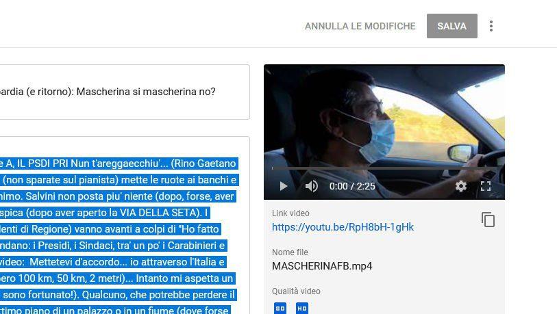 stocazzdicovid - Cazzeggiamo dalla Campania alla Lombardia (e ritorno): Mascherina si mascherina no? - minivideo col cellulare