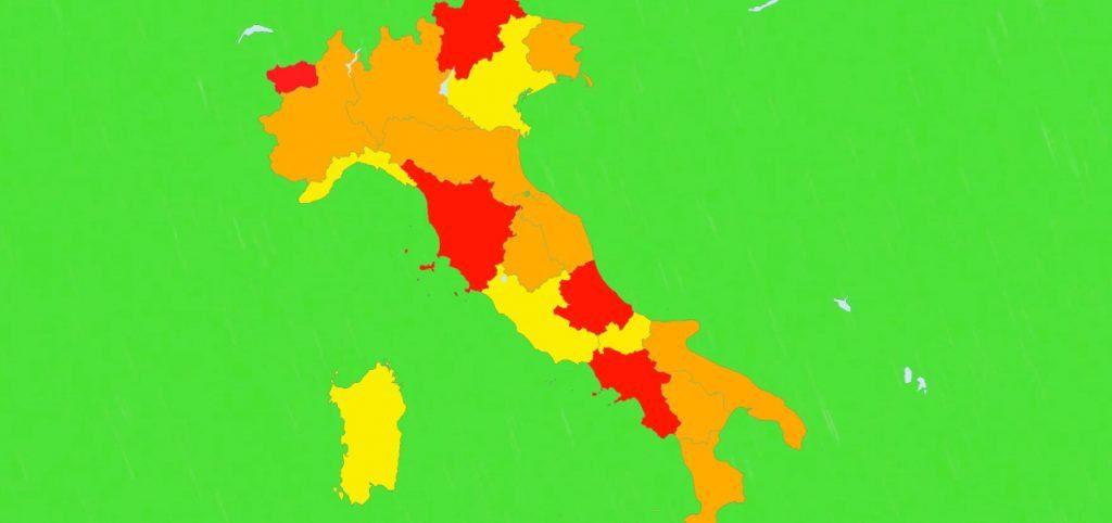 COLORI 1 1024x482 - Zona gialla 8 gennaio, oggi dati. Chi rischia zona arancione o rossa
