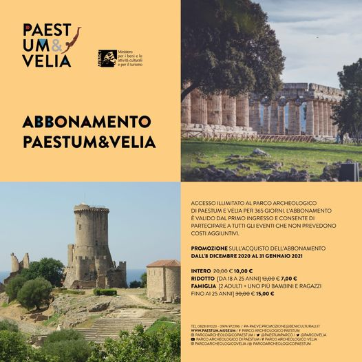 A Natale regala l'abbonamento Paestum&Velia a soli € 10