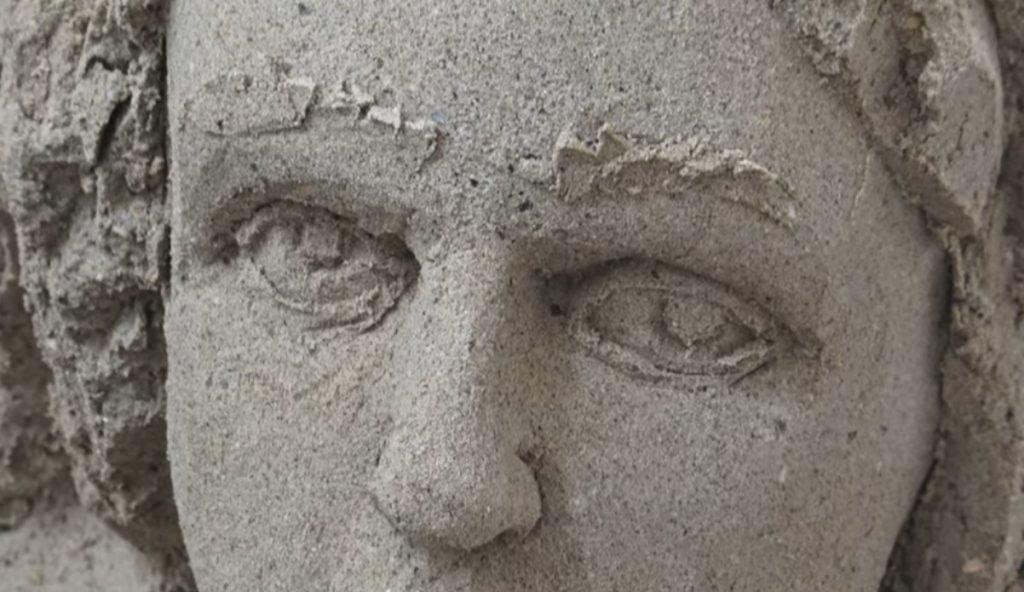 Natale 2019 – Il presepe di sabbia a Salerno – video