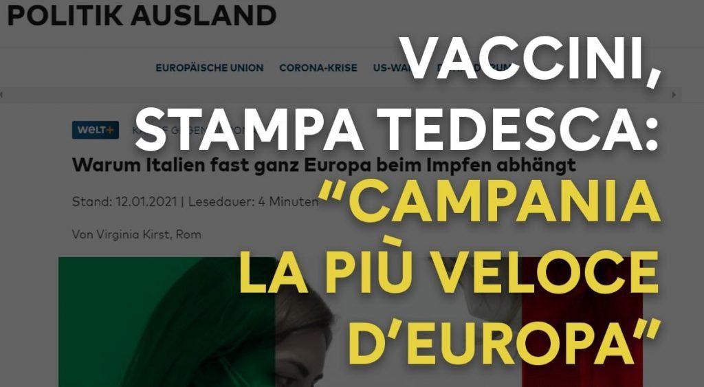 vaccini 1024x563 - Quotidiano tedesco Die WELT: Campania superveloce con vaccini