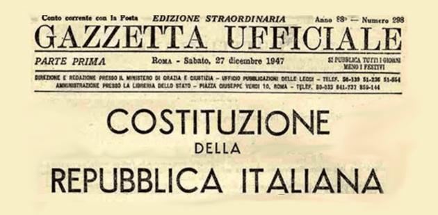 costituzione italiana - Padula, copia della costituzione ai diciottenni