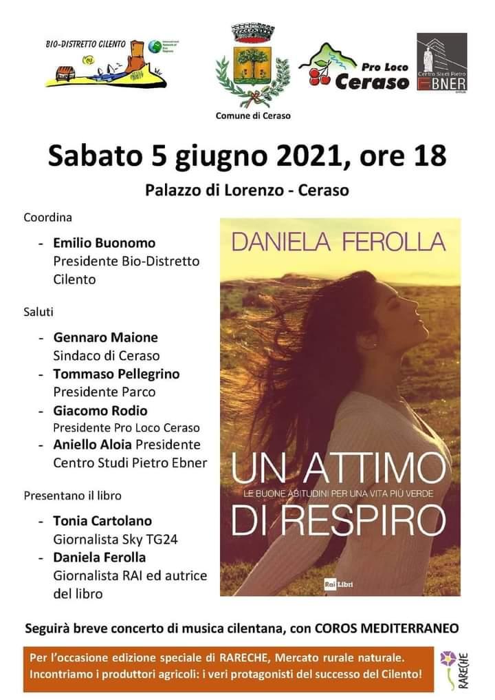 index 1 - Daniela Ferolla il 5/6/21 presentera' a Ceraso il suo libro UN ATTIMO DI RESPIRO -lo spot fatto per caso...
