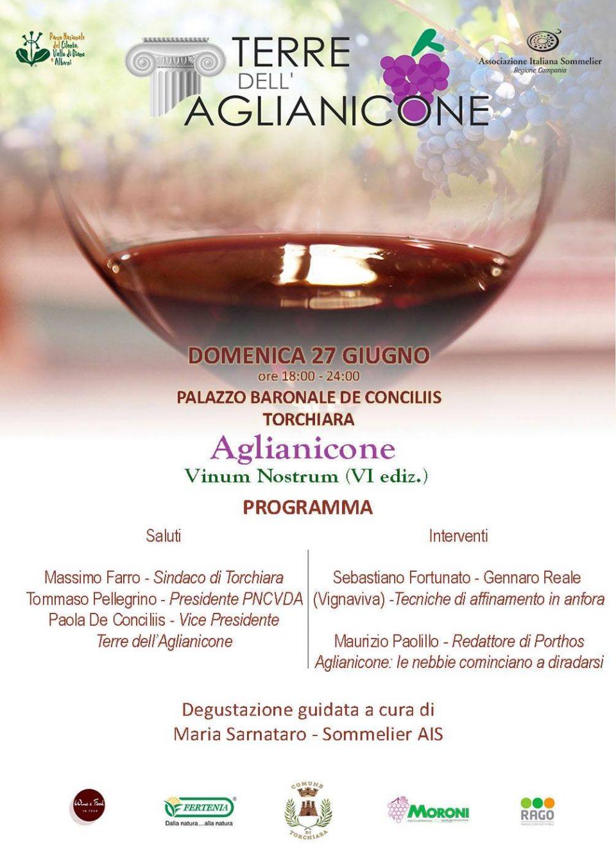 Aglianicone Vinum Nostrum 2021Torchiara Cilento Programma Locandina 960x1337 - Torchiara, 5° Aglianicone Vinum Nostrum 2021 - 27 giugno 2021