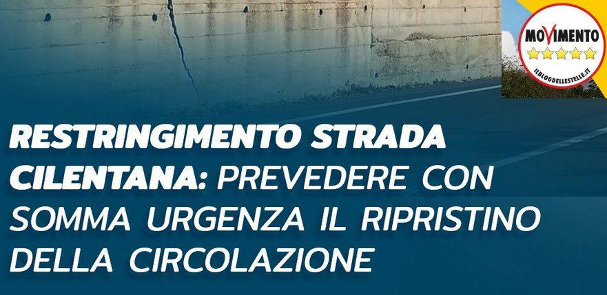 """STRADA - Sen. Castiello: """"Traffico Cilentana intralciato da restringimento di carreggiata in piena estate ?"""""""