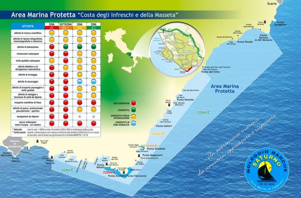 carta area marina 960x632 - Cilento da godere: l'Area Marina Protetta Costa degli Infreschi e della Masseta