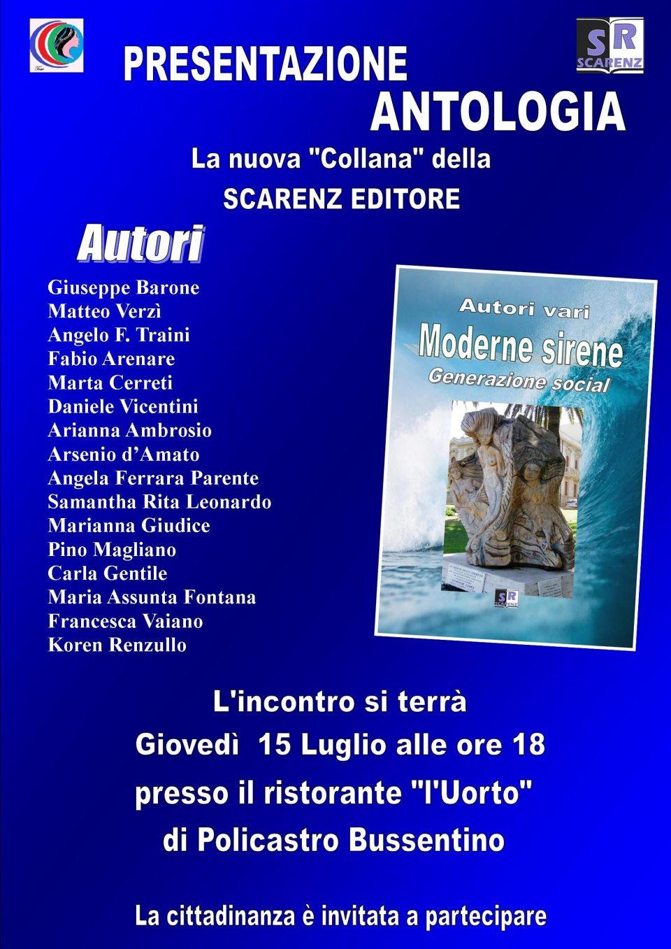 12072021 manifestocon siren 960x1357 - Policastro Bussentino, presentazione della nuova collana di Scarenz Editore