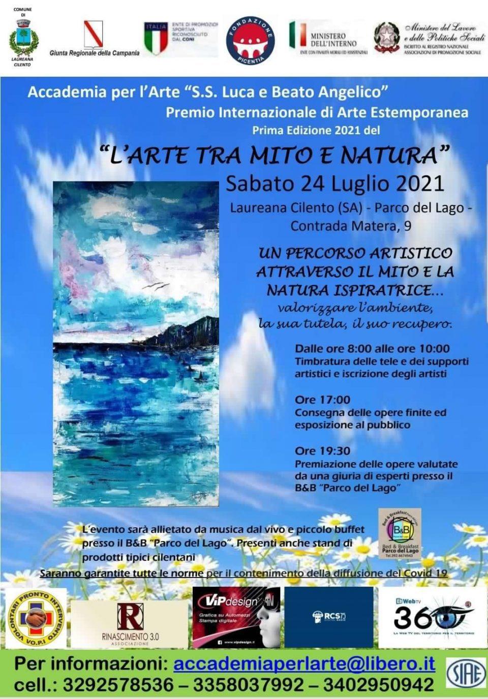 Arte mito natura 2021 Laureana Cilento Estemporanea Premio internazionale Programma 2 960x1375 - Laureana Cilento, Prima Edizione del Premio Internazionale di Arte Estemporanea - 24/7/2021