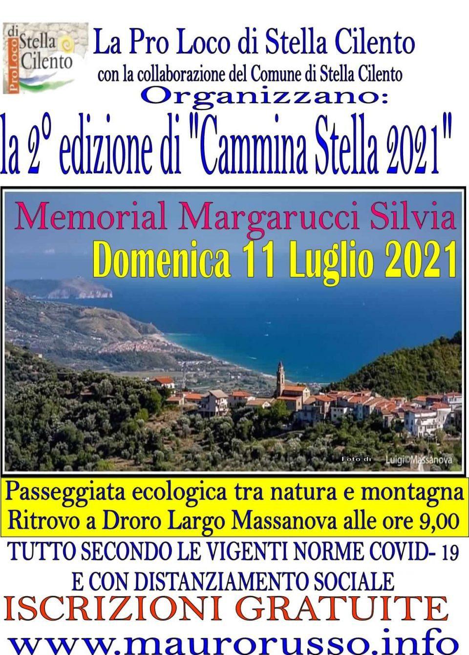 Cammina Stella Memorial Margarucci Silvia 2021 Stella Cilento passeggiata Locandina 960x1339 - Stella Cilento, 2° Cammina Stella Memorial Silvia Margarucci 2021