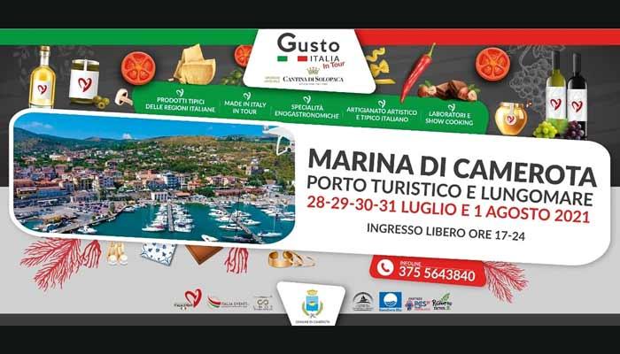 Gusto Italia tour 2021 Marina di Camerota Cilento - Marina di Camerota, Gusto Italia in tour - fino all'1 agosto 2021