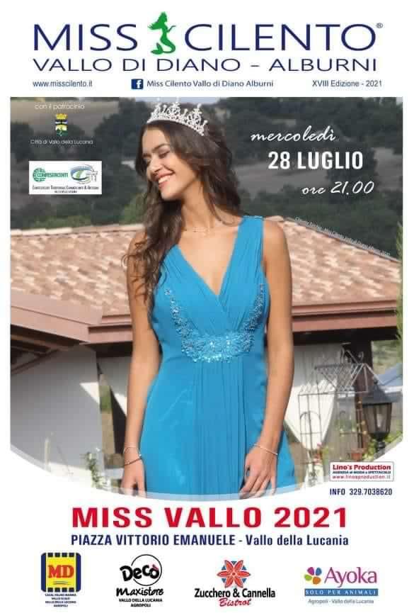 Miss Vallo 2021 Cilento Parco Vallo della Lucania Locandina - Vallo della Lucania, Miss Vallo 2021 - 28/7/21