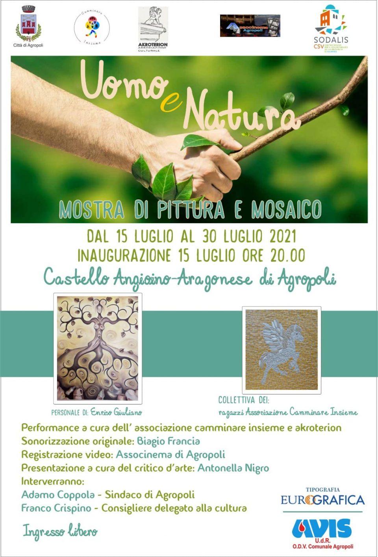 Mostra Uomo e Natura 2021 Agropoli Cilento Enrico Giuliano Locandina 960x1413 - Agropoli, Mostra Uomo e Natura - dal 15 al 30 Luglio 2021