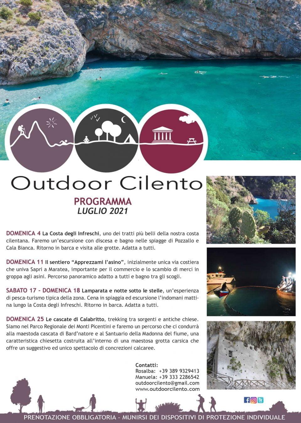 Outdoor Cilento Programma Luglio 2021 trekking Programma 960x1349 - Teggiano, Programma Luglio 2021 di Outdoor Cilento