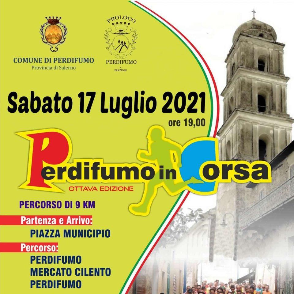 Perdifumo in corsa 2021 Gara podistica Cilento Locandina 960x960 - 9° Perdifumo in Corsa - 17 Luglio 2021