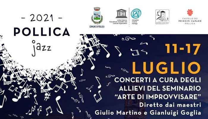 Pollica in Jazz 2021 concerti Cilento - Pollica in Jazz - dal 11 al 17 Luglio 2021