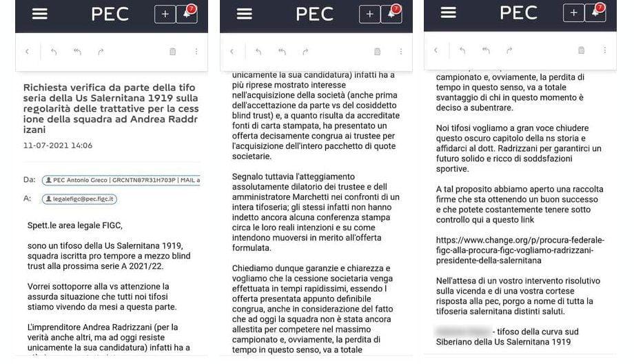 pec - Salernitana, momenti di riflessione per i trustee ma non per i tifosi: partono le pec di chiarimento e la petizione online