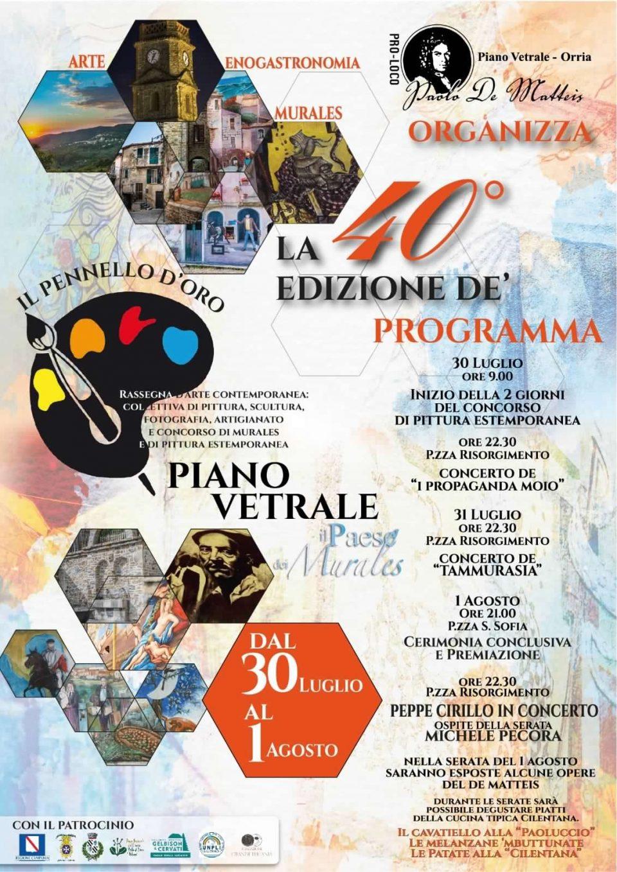 pennello oro 2021 Piano Vetrale Cilento Programma 960x1358 - Piano Vetrale, Il Pennello d'oro 2021 - dal 30 luglio al 1 agosto 2021