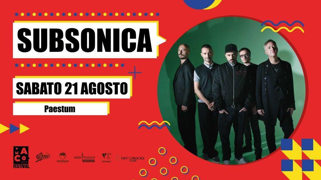 Paestum, Subsonica in concerto – 21/8/21
