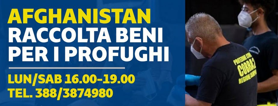 afgh - Campania: AFGHANISTAN, MODALITÀ RACCOLTA BENI PER I PROFUGHI
