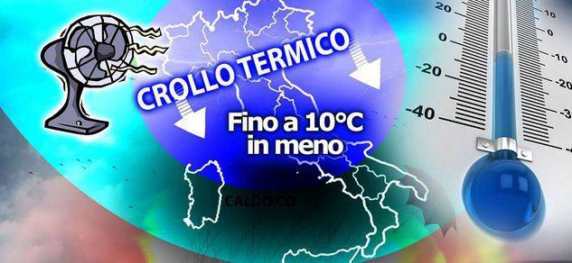 Meteo: crollo termico in Italia e temperature in media al sud