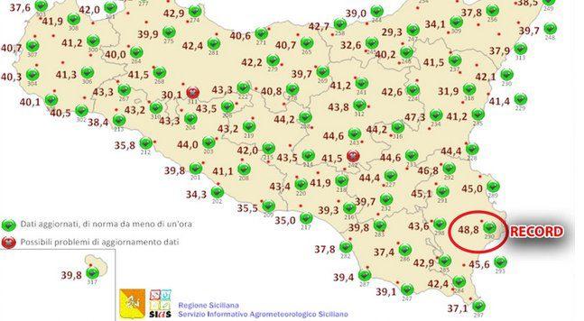 Meteo: battuto il record di caldo in Italia