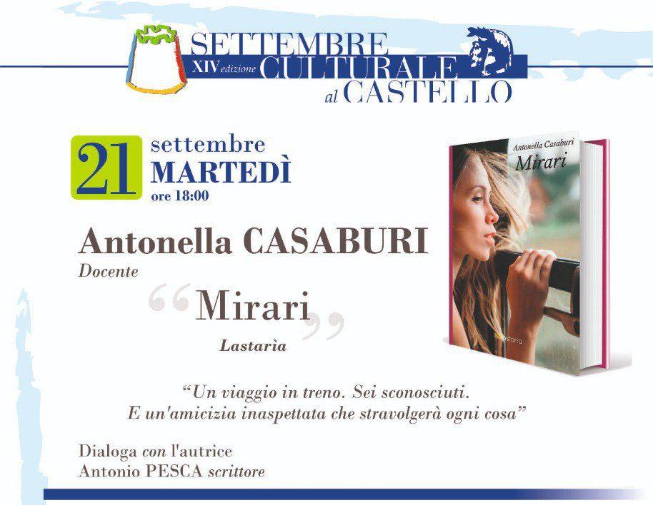 """IMG 20210831 WA0012 - Agropoli, Al """"Settembre Culturale"""" il romanzo che narra la storia e le tradizioni del Cilento: """"Mirari"""""""