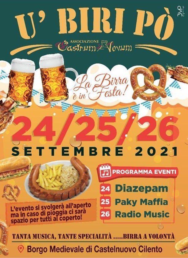 U Biri Po 2021 Castelnuovo Cilento Birra prodotti tedeschi locandina - Castelnuovo Cilento, U' Biri Pò 2021