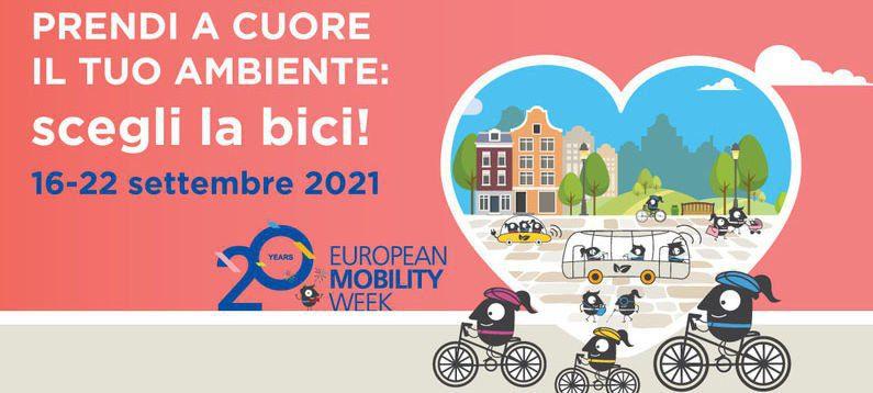 fiab - Le iniziative di FIAB-Federazione Italiana Ambiente e Bicicletta per la ventesima edizione della Settimana Europea della Mobilità Sostenibile, dal 16 al 22/9/21