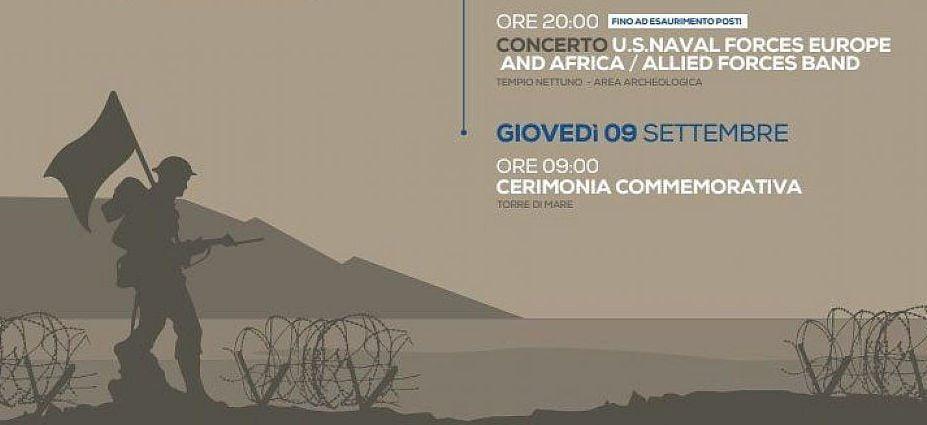 sbarco - Capaccio Paestum commemora lo sbarco alleato lungo le coste del Golfo di Salerno