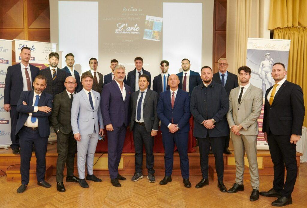 """""""L'Arte in Quarantena"""" e """"Premio Belle Arti"""": successo al Castello di Arechi col curatore Salvo Nugnes ed ospiti d'eccezione"""