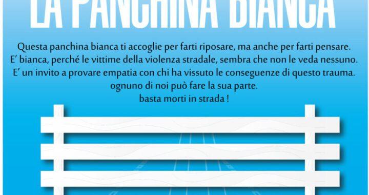 Panchina Ridere 931x1024 1 720x380 - Ottati installa la panchina bianca, in memoria di tutte le vittima della strada - 24/10/21